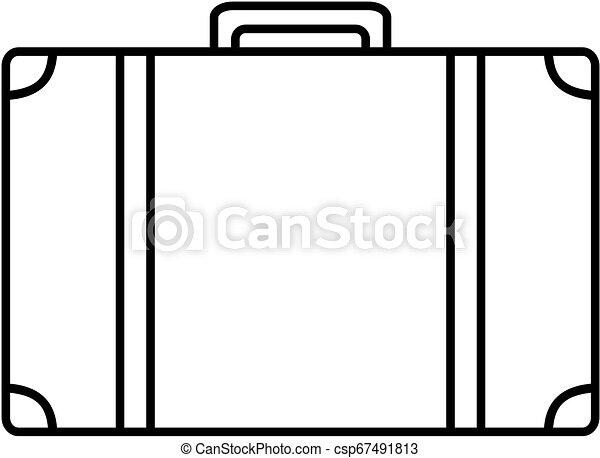 bőrönd, icon., vektor, illustration., áttekintés - csp67491813