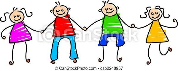 barátok, boldog - csp0248957