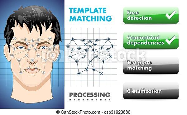 belépés, biometric, -, elismerés, arc - csp31923886
