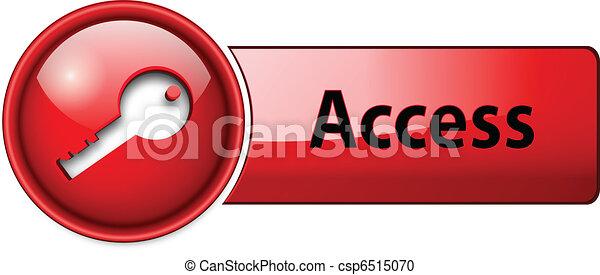 belépés, ikon, gombol - csp6515070