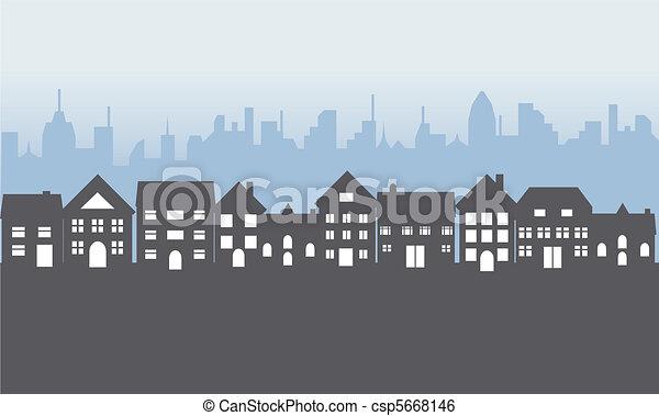 belföldek, külvárosi, éjszaka - csp5668146