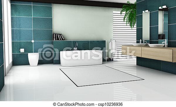 belső, fürdőszoba, tervezés - csp10236936