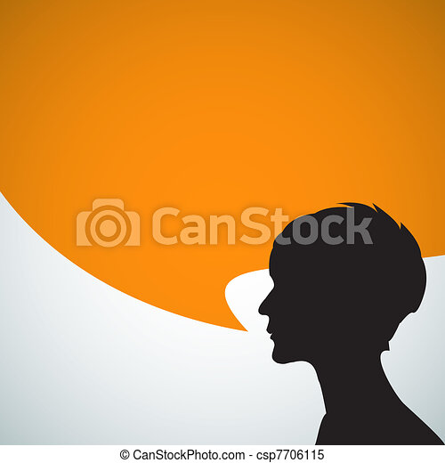 beszélő, elvont, árnykép - csp7706115