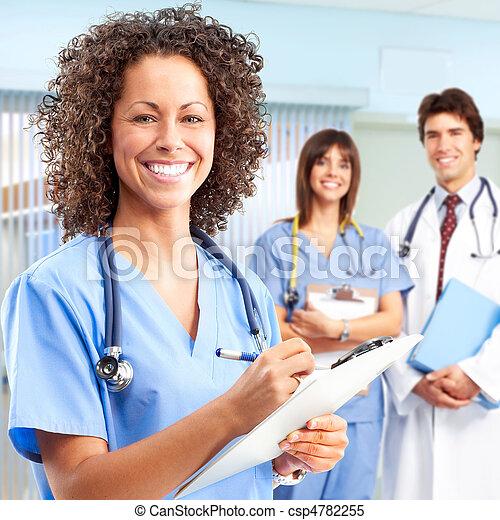 betegápolók, orvos - csp4782255