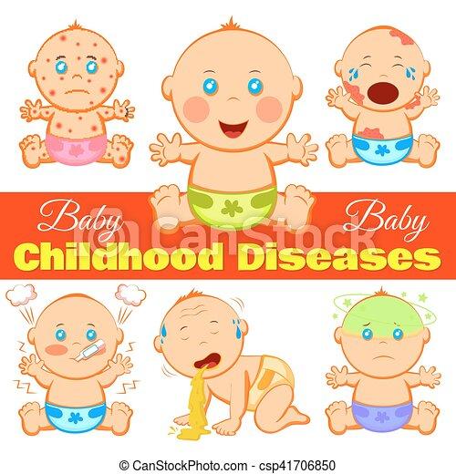 betegségek, gyermekkor, háttér - csp41706850