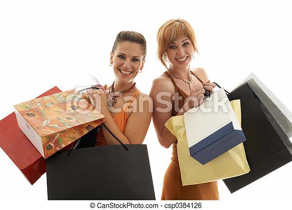 bevásárlás, lány - csp0384126