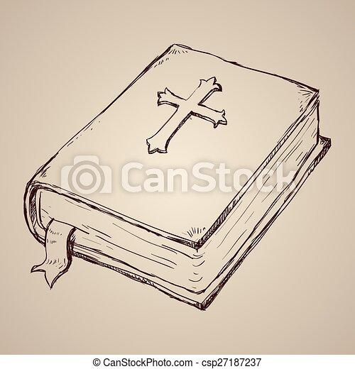 biblia, jámbor, design. - csp27187237