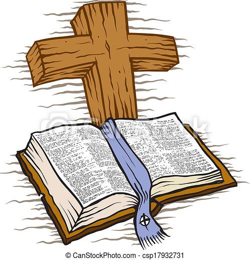 biblia, kereszt - csp17932731