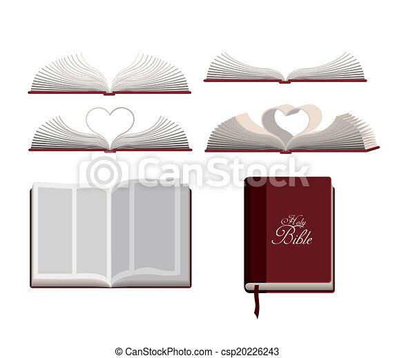 biblia, tervezés, jámbor - csp20226243