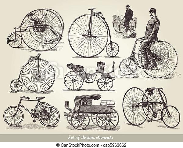 bicycles, állhatatos, öreg - csp5963662