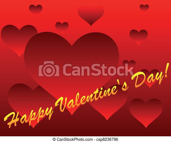 boldog, day!, valentine's - csp8236796