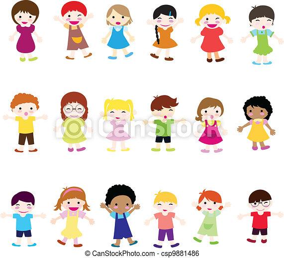 boldog, gyerekek - csp9881486