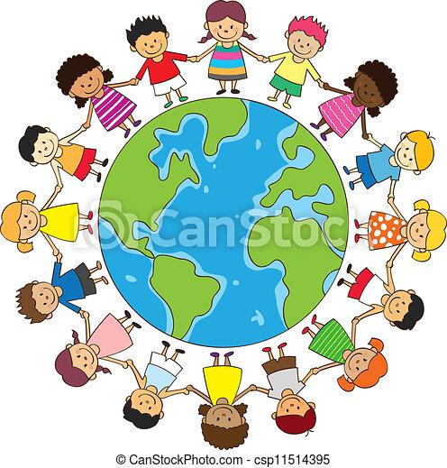 boldog, gyermekek hatalom kezezés - csp11514395