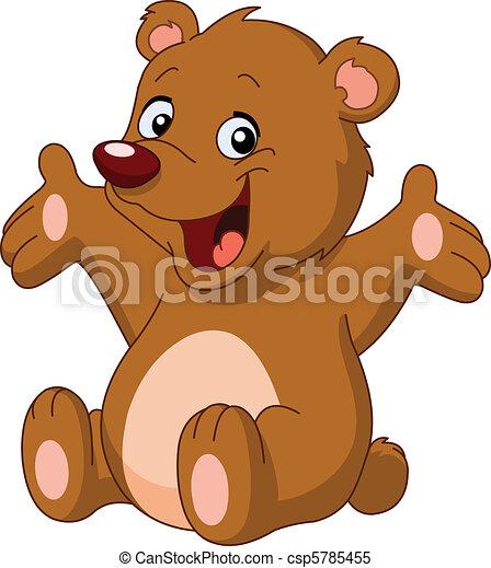 boldog, hord, teddy-mackó - csp5785455