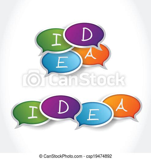 buborék, üzenet, tervezés, gondolat, ábra - csp19474892