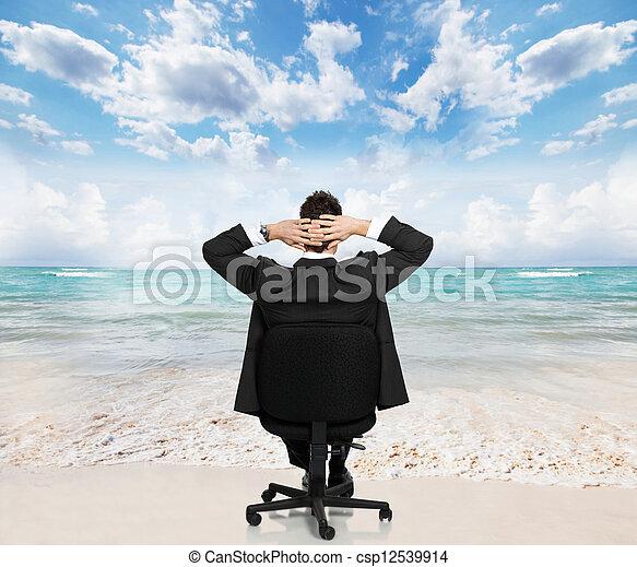 businessman., bágyasztó - csp12539914