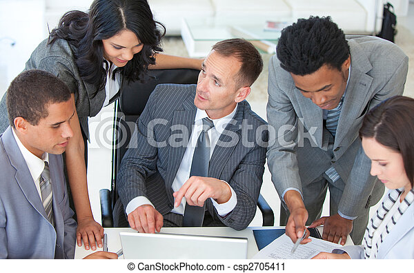 businessteam, ügy, dolgozó, terv, együtt - csp2705411
