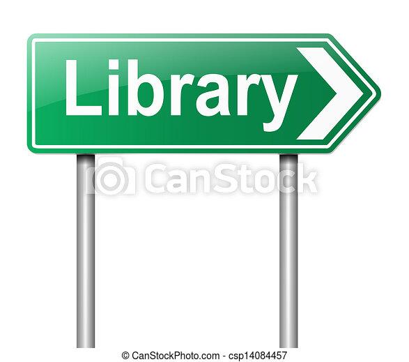 cégtábla., könyvtár - csp14084457