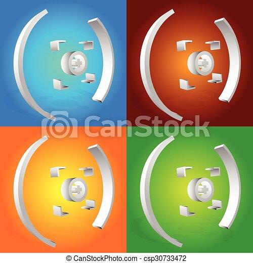 céltábla, színes, kereszt, megjelöl, vektor, haj, graphics. - csp30733472