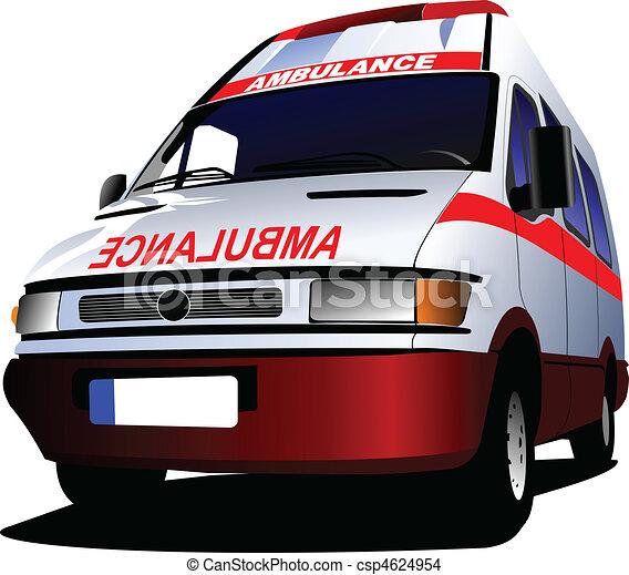 c-hang, felett, mentőautó, modern, white., furgon - csp4624954