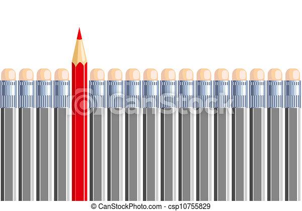 ceruza, gray., different., lenni, néhány, egy, más, másik - csp10755829