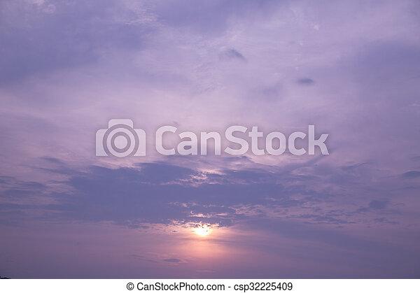 cloudscape, félhomály - csp32225409