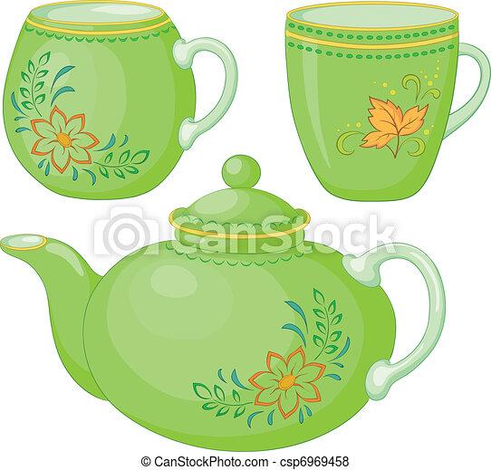 csészék, teáskanna - csp6969458