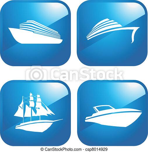 csónakázik, hajó - csp8014929