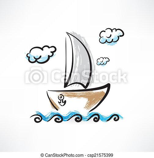 csónakázik - csp21575399