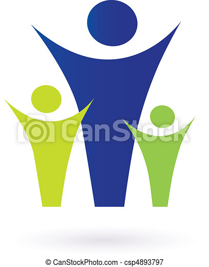 család, közösség, pictogram - csp4893797