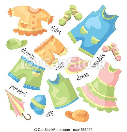 csecsemő, állhatatos, öltözet - csp4668022