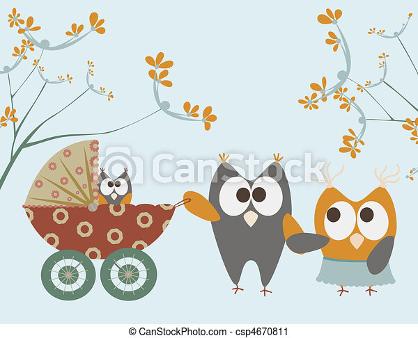 csecsemő, baglyok, sétáló - csp4670811