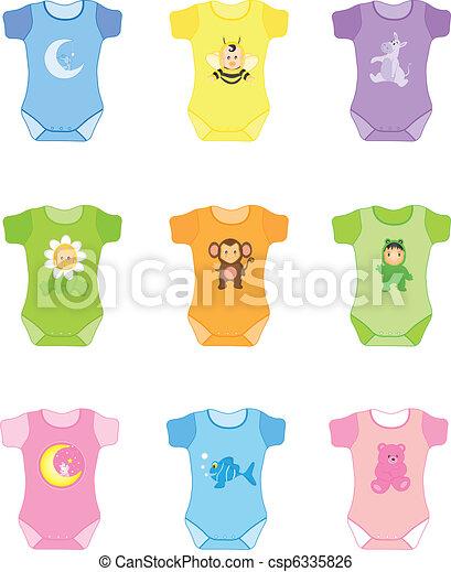 csecsemő felöltöztet - csp6335826