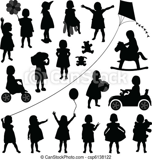 csecsemő lány, totyogó kisgyerek, gyerekek, gyermek - csp6138122