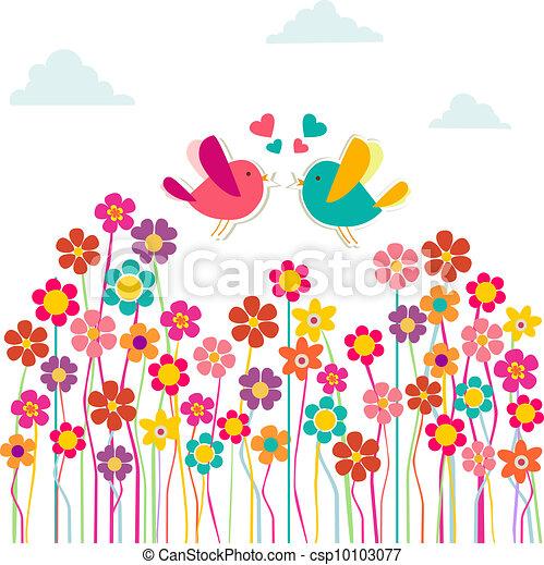 csinos, szeret madár, társadalmi - csp10103077