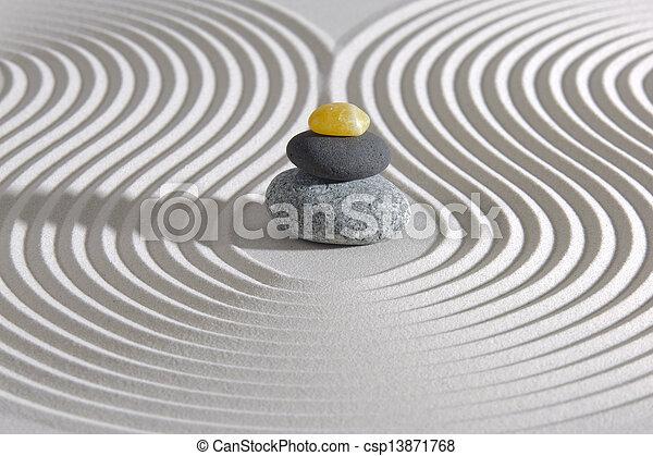 csiszol, zen, kazalba rakott, kert japanese - csp13871768
