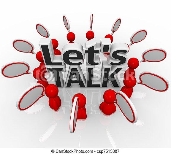 csoport, emberek, let's, beszéd, elhomályosul, karika, megvitat, beszél - csp7515387