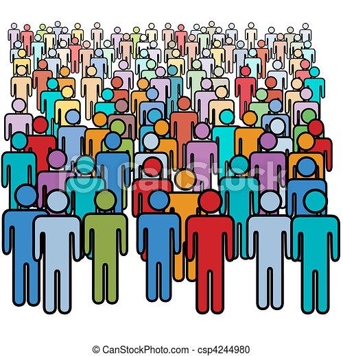 csoport, tolong, emberek, nagy, befest, társadalmi, sok - csp4244980