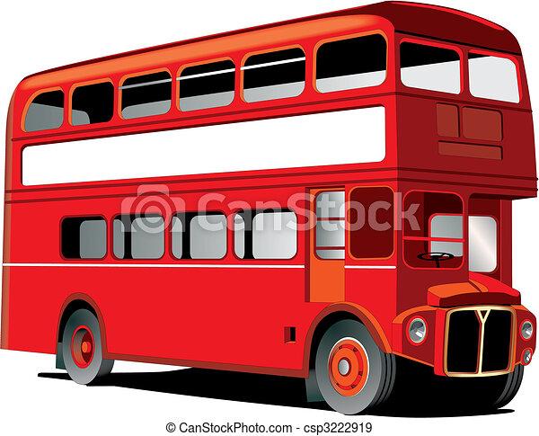 decker, megkettőz, london, autóbusz - csp3222919