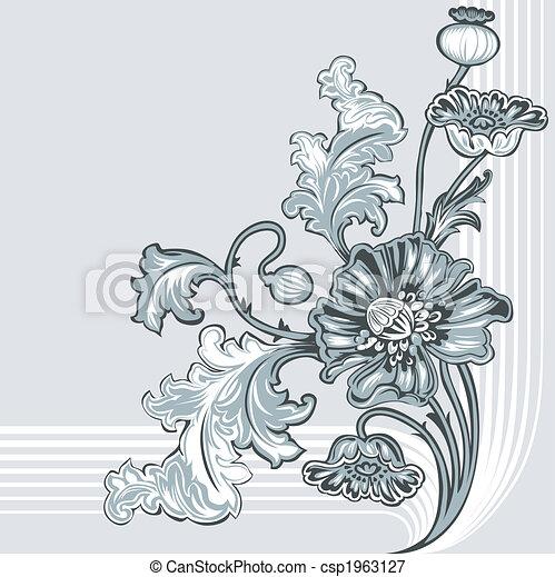 dekoráció, mák, virág - csp1963127