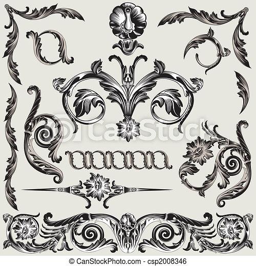 dekoráció, virágos, állhatatos, alapismeretek, klasszikus - csp2008346