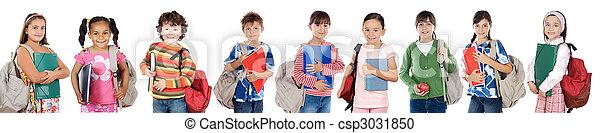 diákok, sok, gyerekek, jelent, izbogis - csp3031850