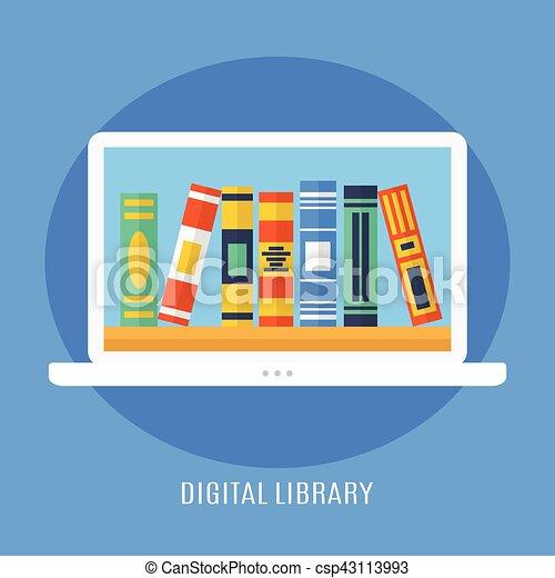digitális, könyvtár - csp43113993