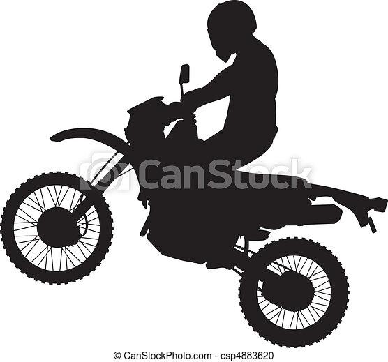 dirtbike, ugrás, árnykép - csp4883620