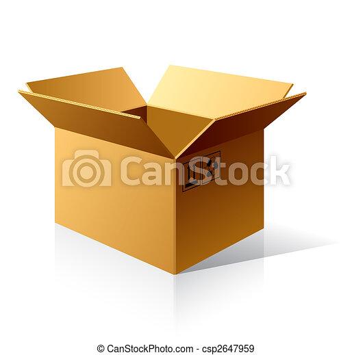doboz, kartonpapír, üres - csp2647959