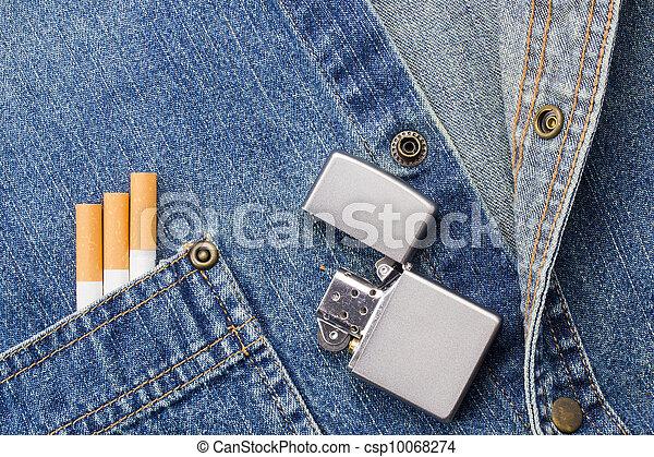 dohányzó, farmeranyag - csp10068274