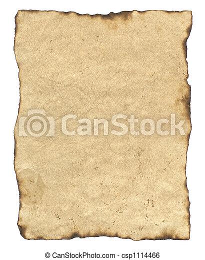 dolgozat, öreg, pergament - csp1114466