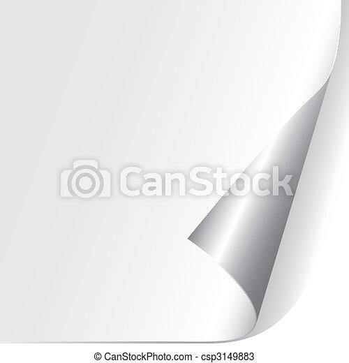 dolgozat, göndörített, sarok, (vector) - csp3149883