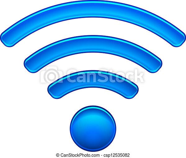 drótnélküli távíró, jelkép, wifi, hálózat, ikon - csp12535082