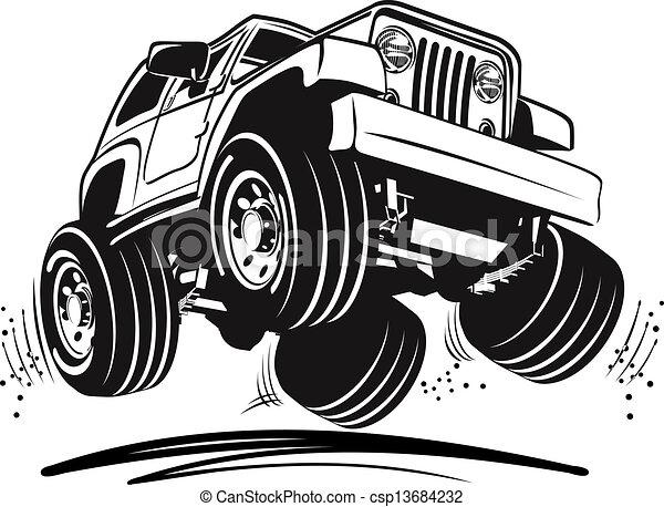 dzsip, karikatúra - csp13684232
